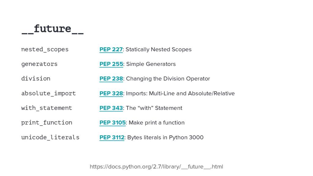 __future__ nested_scopes PEP 227: Statically Ne...