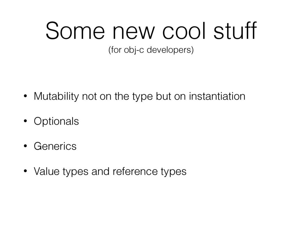 Some new cool stuff (for obj-c developers) • Mu...