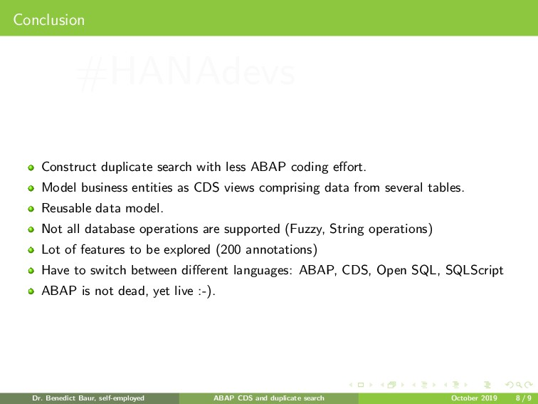Conclusion Construct duplicate search with less...