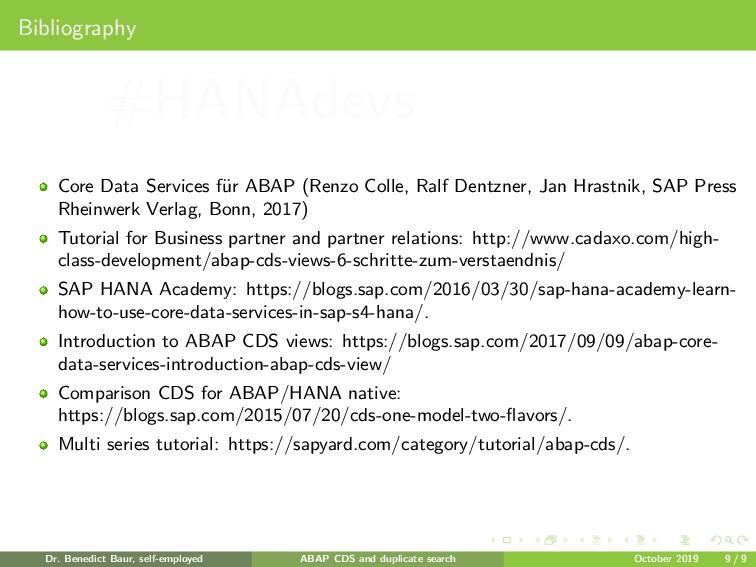 Bibliography Core Data Services f¨ ur ABAP (Ren...