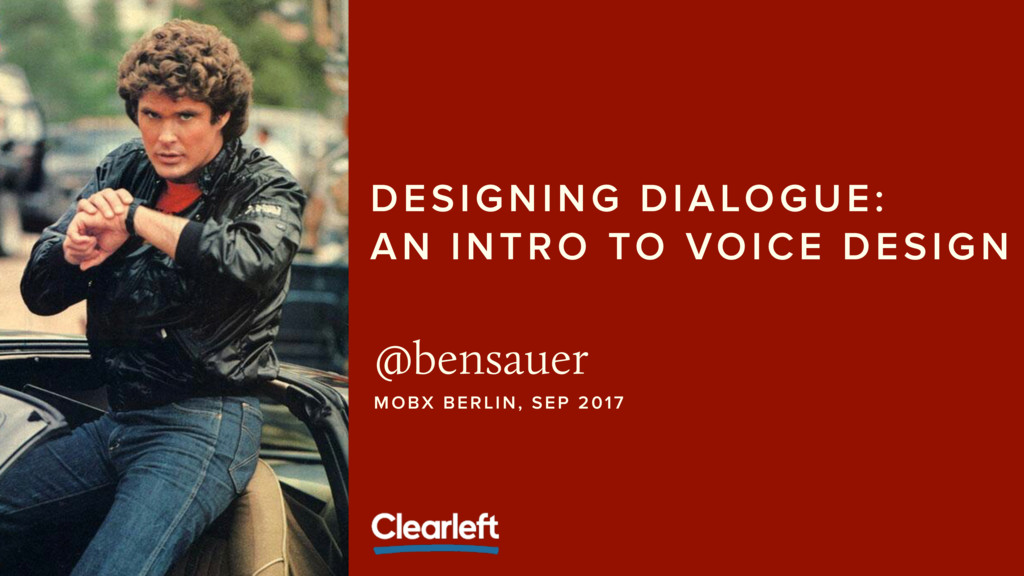 DESIGNING DIALOGUE: 