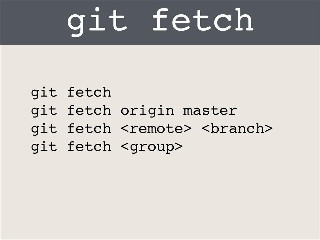 git fetch git fetch! git fetch origin master! g...