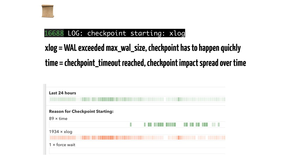 16688 LOG: checkpoint starting: xlog xlog = WA...