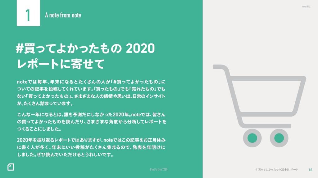 03 note inc. Best to Buy 2020 # ങͬͯΑ͔ͬͨͷ2020Ϩϙ...