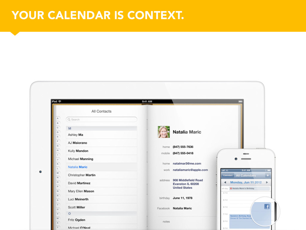 YOUR CALENDAR IS CONTEXT.