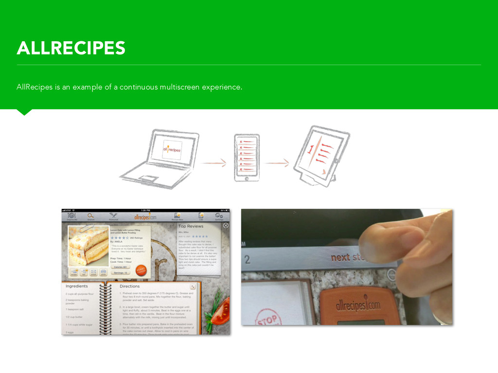 ALLRECIPES AllRecipes is an example of a contin...
