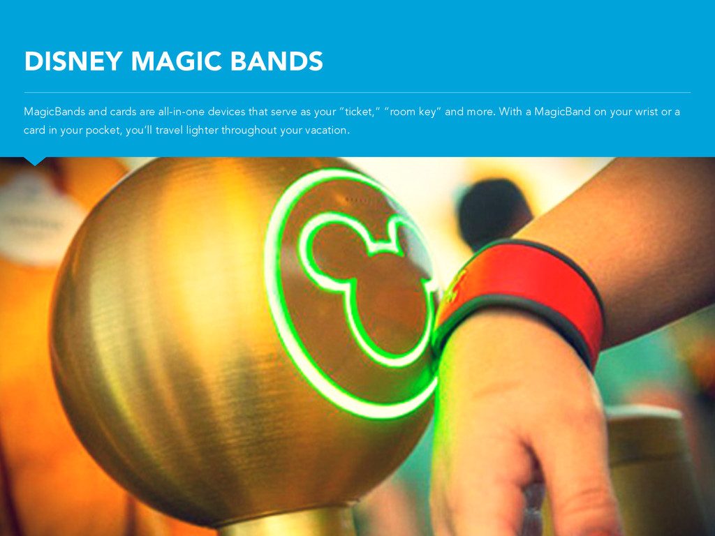 DISNEY MAGIC BANDS MagicBands and cards are all...