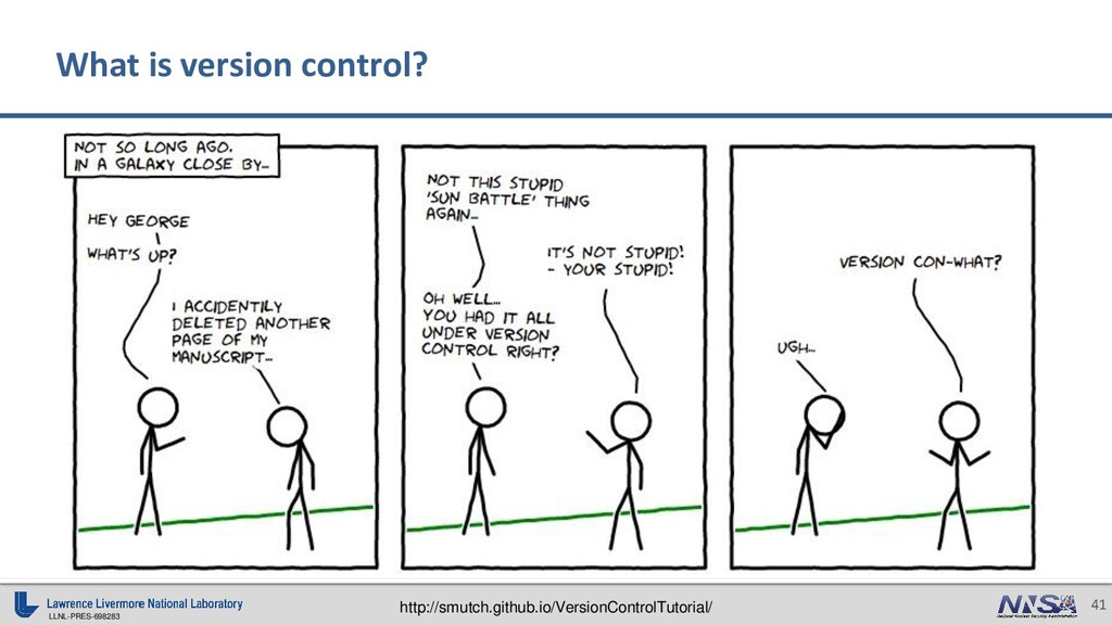 LLNL-PRES-698283 41 What is version control? ht...