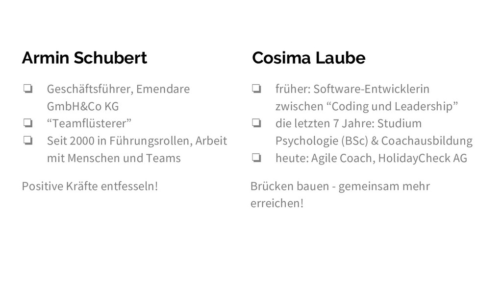 Armin Schubert ❏ Geschäftsführer, Emendare GmbH...