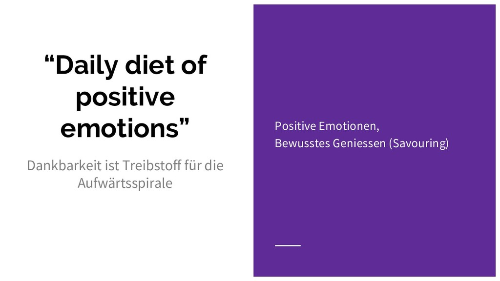 """Daily diet of positive emotions"" Dankbarkeit i..."