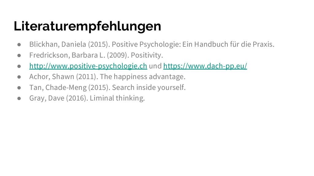 Literaturempfehlungen ● Blickhan, Daniela (2015...
