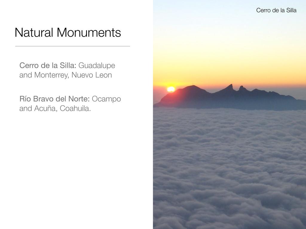 Natural Monuments Cerro de la Silla: Guadalupe ...