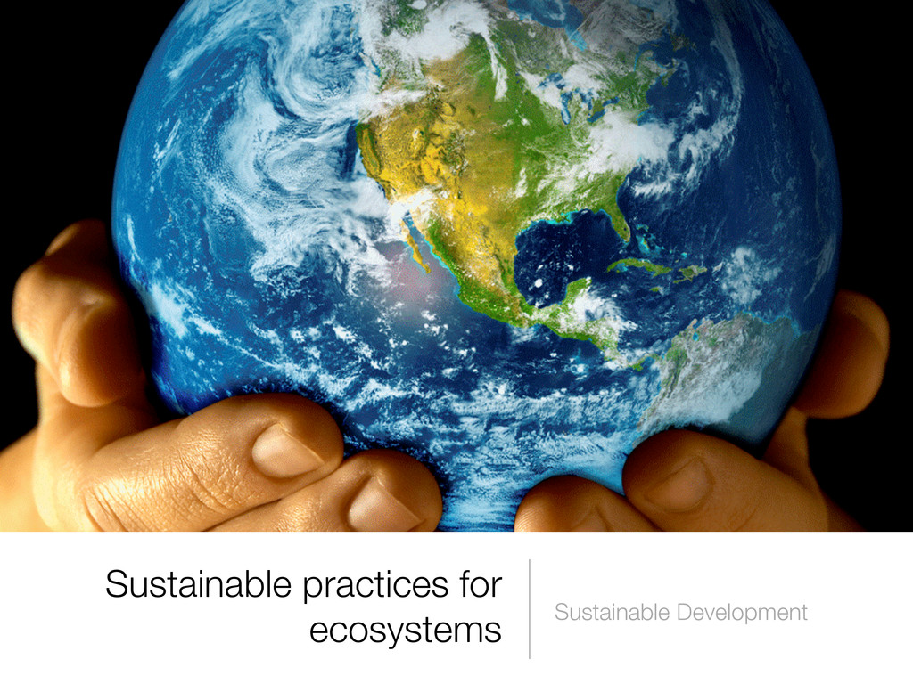 Sustainable practices for ecosystems Sustainabl...