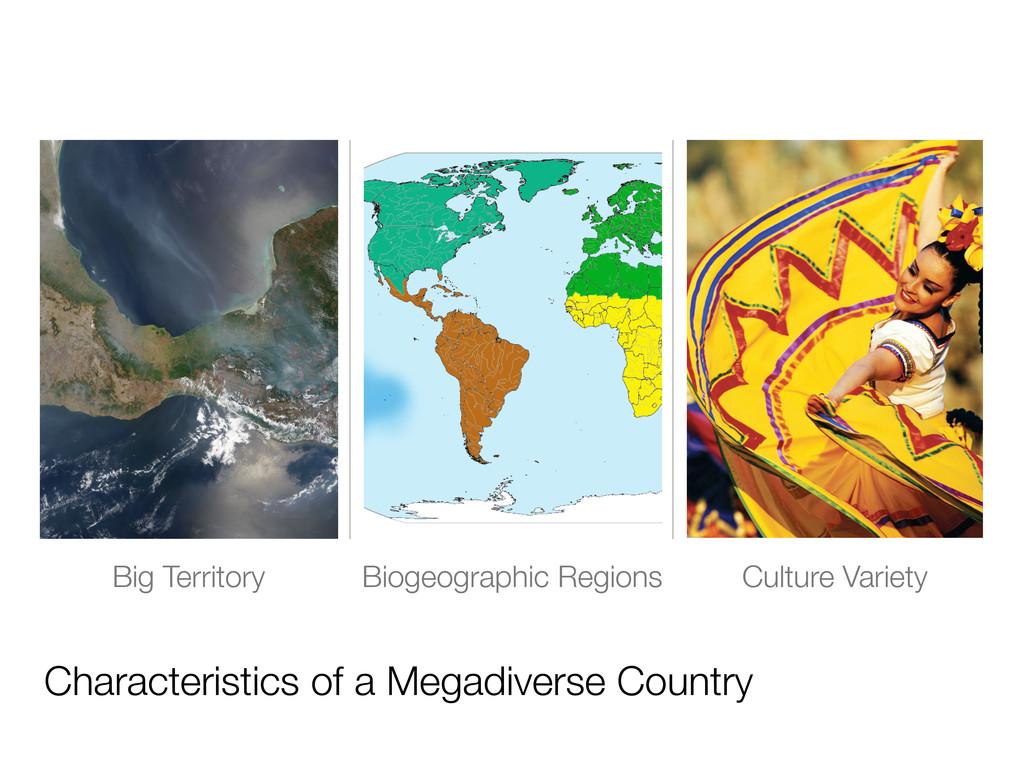 Characteristics of a Megadiverse Country Big Te...