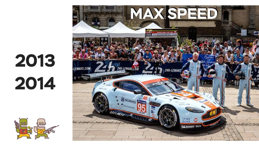 2013 2014 MAX SPEED