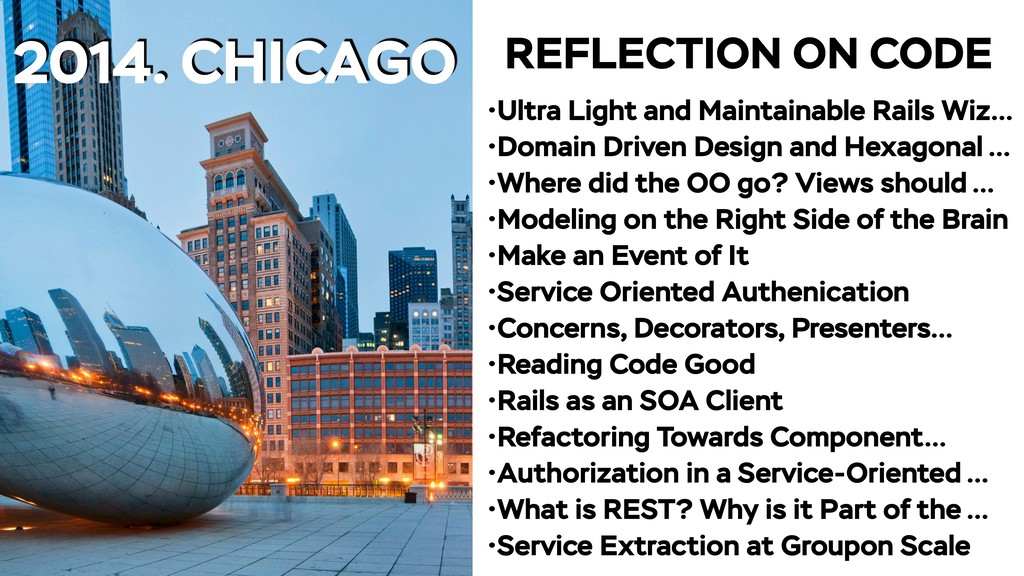 2014. CHICAGO •Ultra Light and Maintainable Rai...