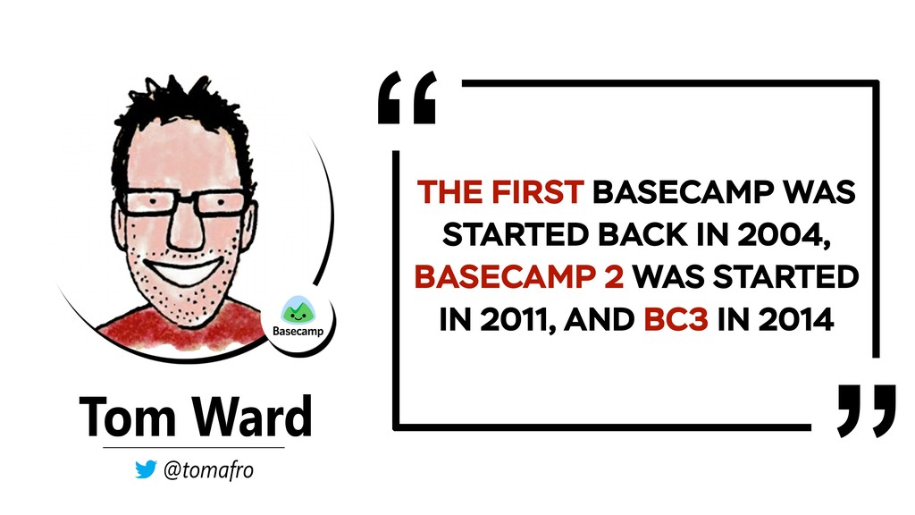 THE FIRST BASECAMP WAS STARTED BACK IN 2004, BA...
