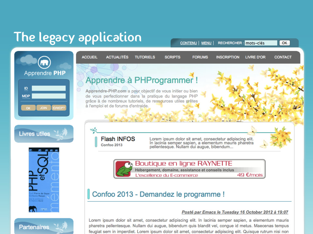 The legacy application