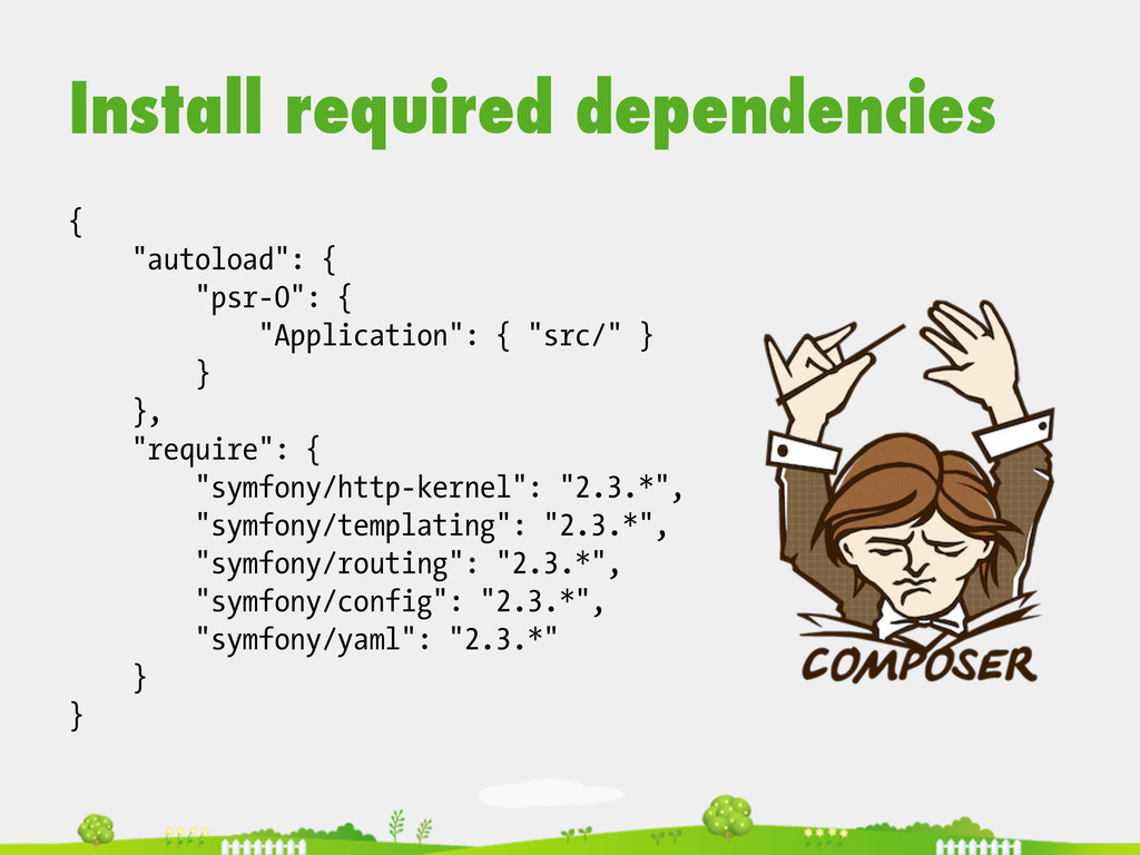 """Install required dependencies { """"autoload"""": { """"..."""