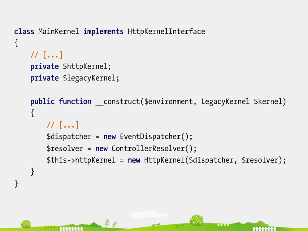 class MainKernel implements HttpKernelInterface...