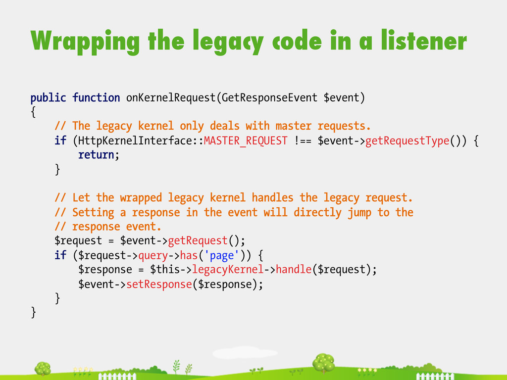 Wrapping the legacy code in a listener  publ...