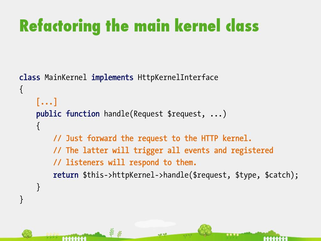 Refactoring the main kernel class  class Mai...