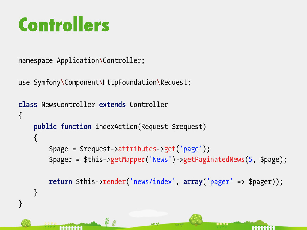 Controllers  namespace Application\Controlle...