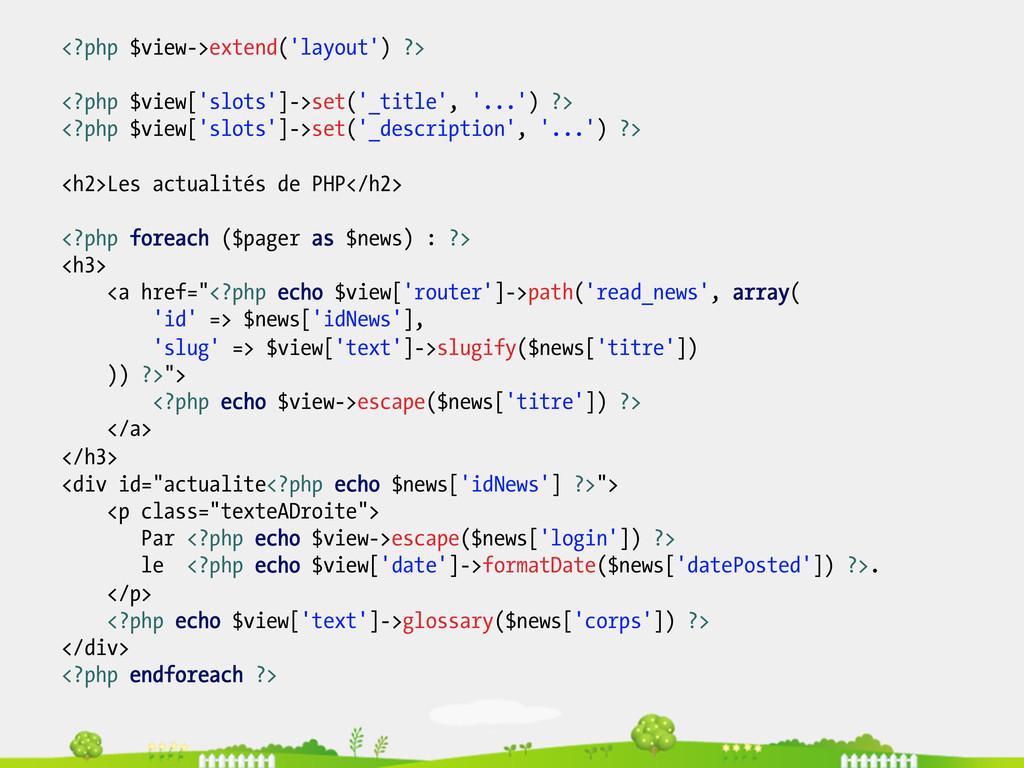 <?php $view->extend('layout') ?> <?php $view['s...