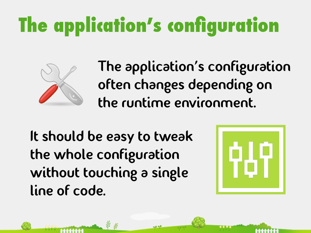 The application's configuration  The applicat...