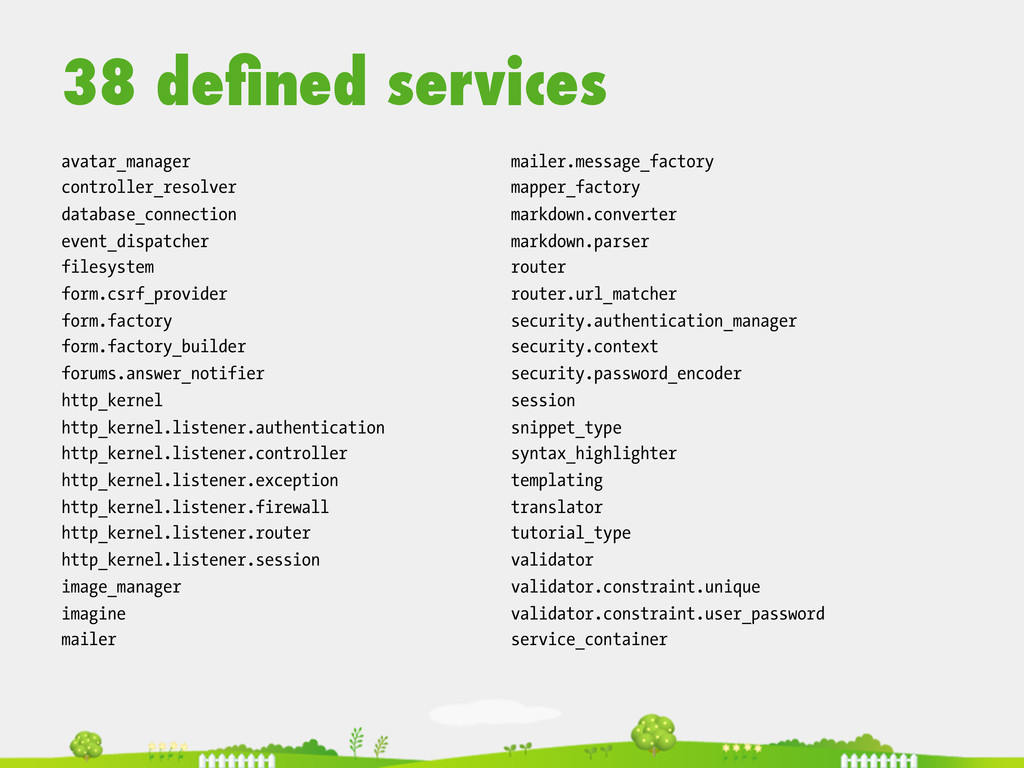 38 defined services  avatar_manager controlle...