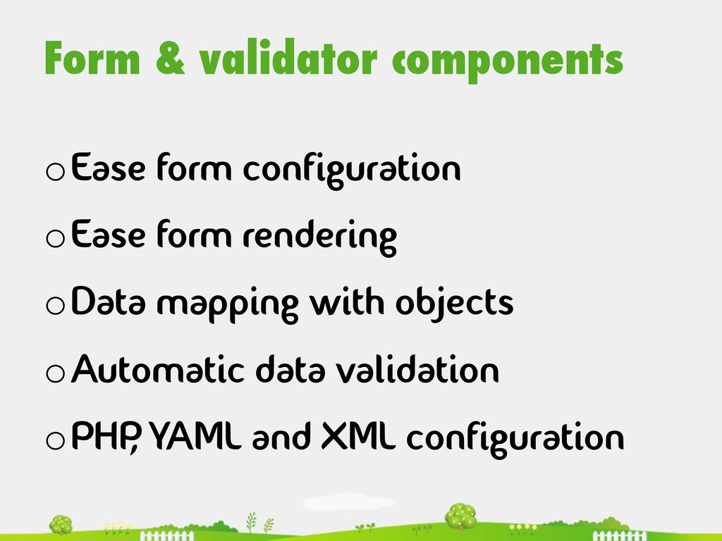 Form & validator components  oEase form con...