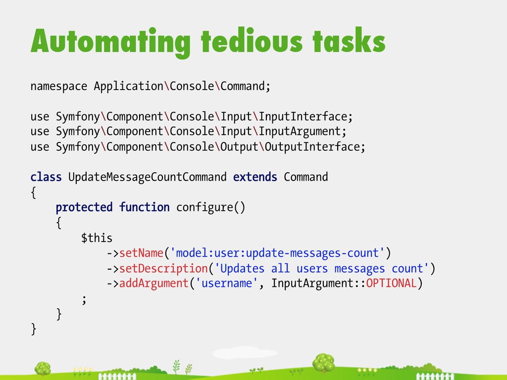 Automating tedious tasks  namespace Applicat...