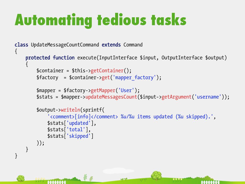Automating tedious tasks  class UpdateMessag...