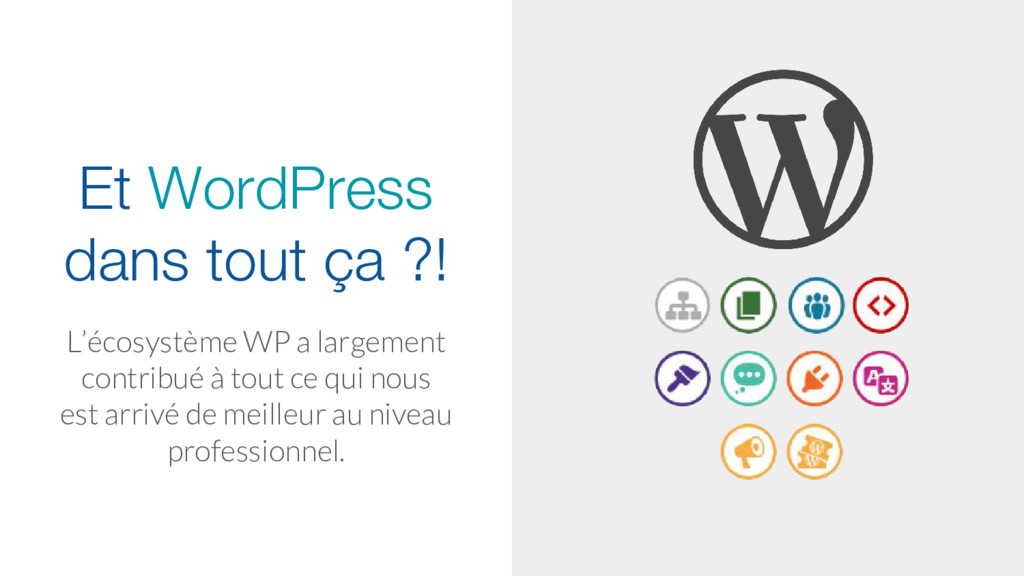 Et WordPress dans tout ça ?! L'écosystème WP a ...