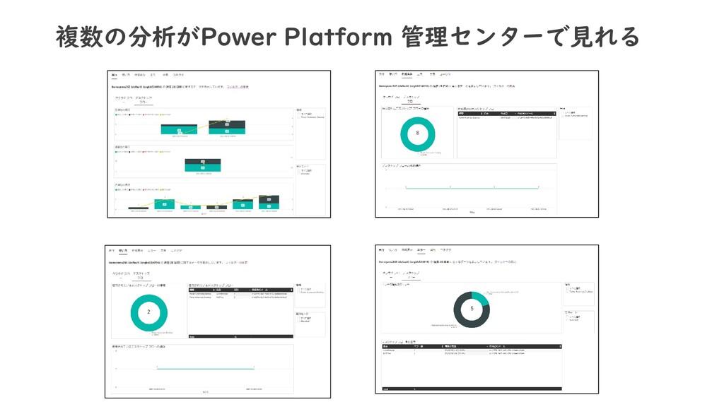 複数の分析がPower Platform 管理センターで見れる
