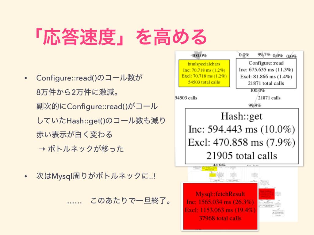 ʮԠʯΛߴΊΔ • Configure::read()ͷίʔϧ͕ 8ສ͔݅Β2ສ݅ʹܹ...