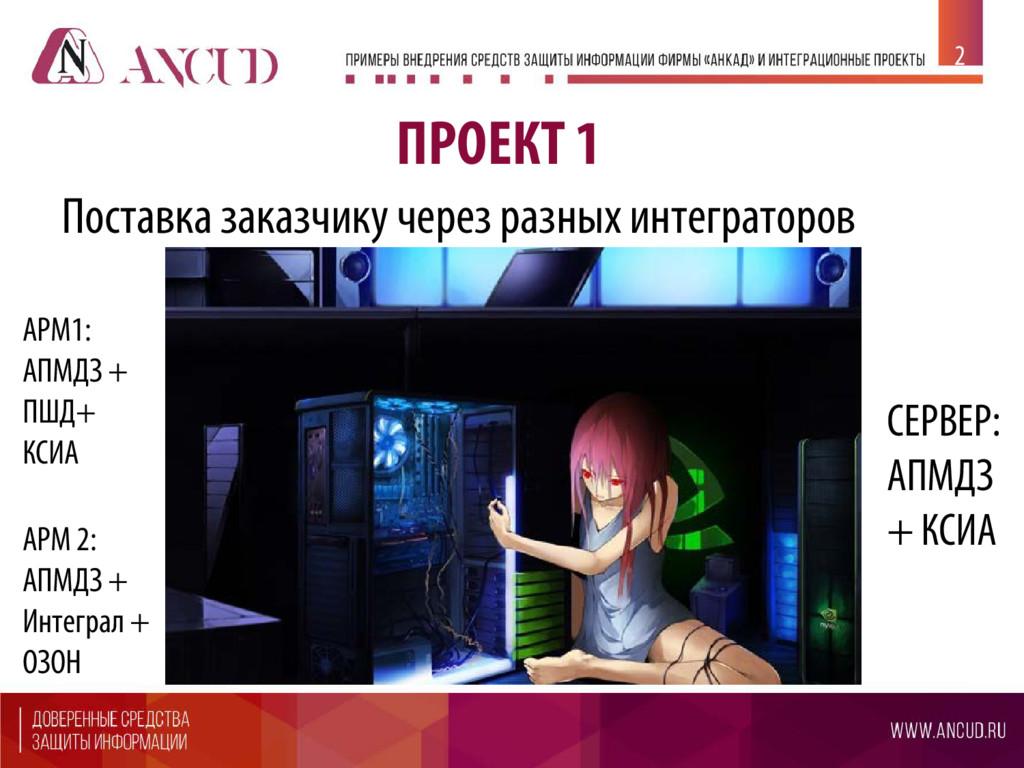 ПРОЕКТ 1 Поставка заказчику через разных интегр...
