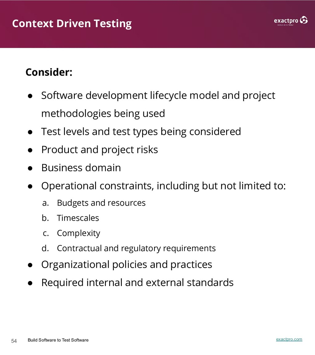 54 Build Software to Test Software exactpro.com...