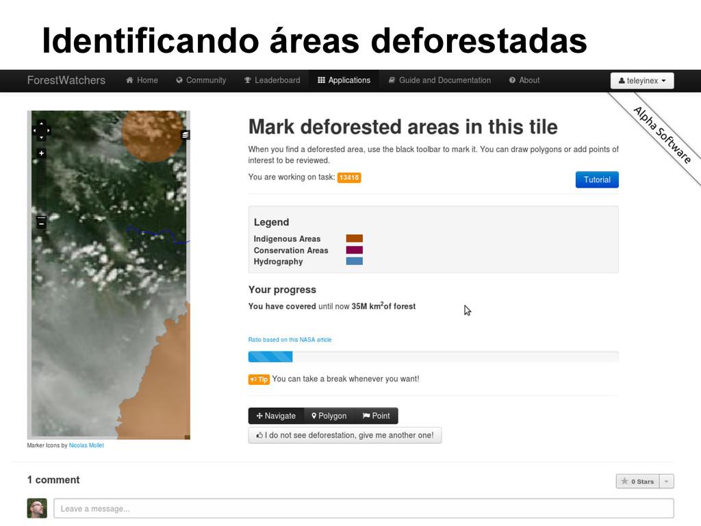 Identificando áreas deforestadas