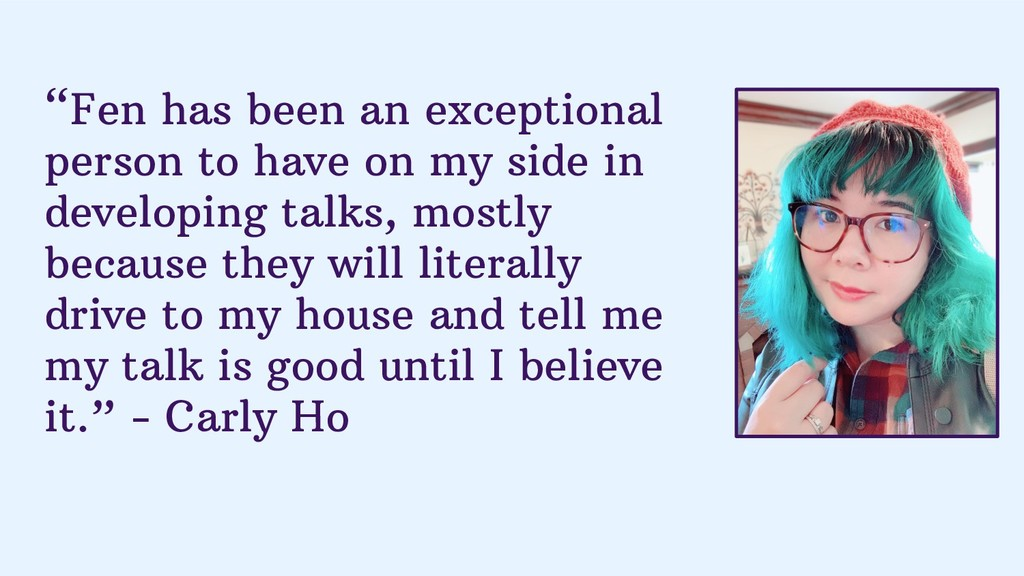 """""""Fen has been an exceptional person to have on ..."""