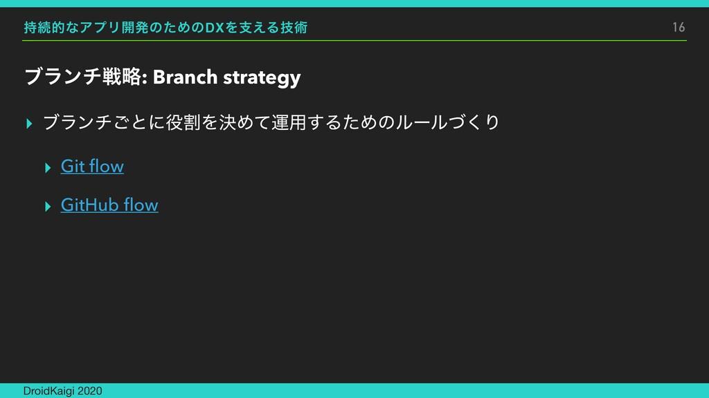 ଓతͳΞϓϦ։ൃͷͨΊͷDXΛࢧ͑Δٕज़ ϒϥϯνઓུ: Branch strategy ▸...