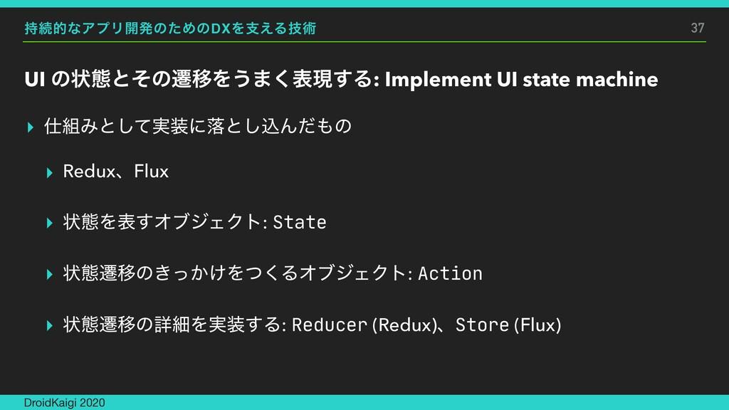 ଓతͳΞϓϦ։ൃͷͨΊͷDXΛࢧ͑Δٕज़ UI ͷঢ়ଶͱͦͷભҠΛ͏·͘දݱ͢Δ: Impl...