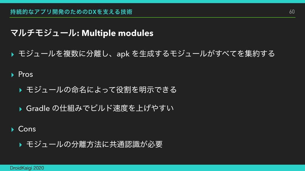 ଓతͳΞϓϦ։ൃͷͨΊͷDXΛࢧ͑Δٕज़ ϚϧνϞδϡʔϧ: Multiple module...