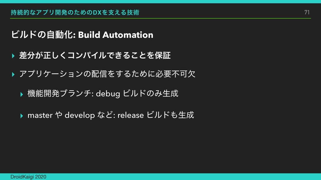 ଓతͳΞϓϦ։ൃͷͨΊͷDXΛࢧ͑Δٕज़ ϏϧυͷࣗಈԽ: Build Automation...