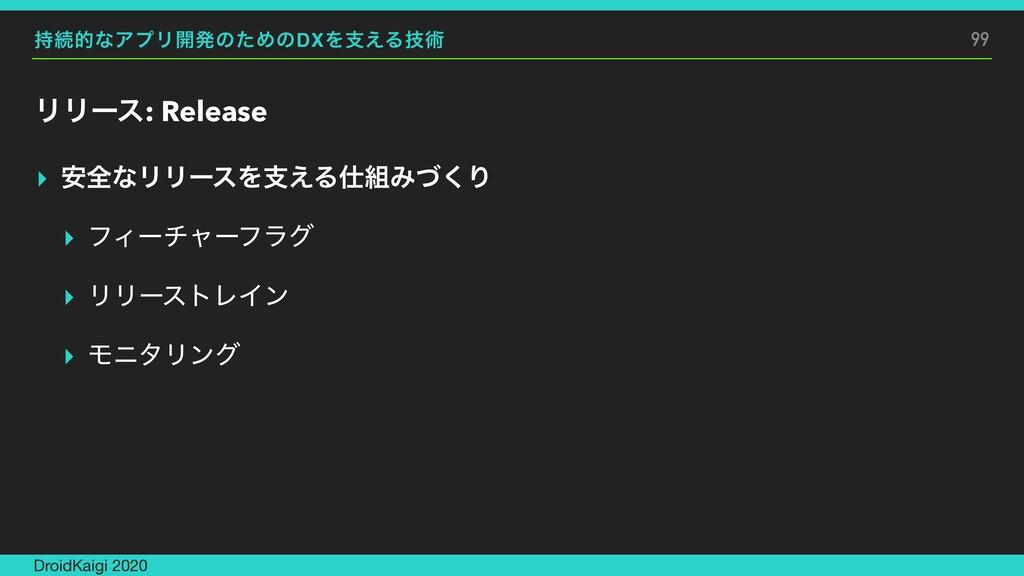 ଓతͳΞϓϦ։ൃͷͨΊͷDXΛࢧ͑Δٕज़ ϦϦʔε: Release ▸ ҆શͳϦϦʔεΛࢧ...