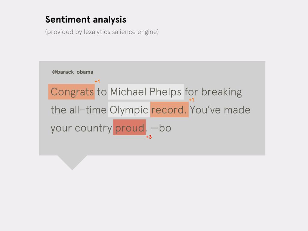 Sentiment analysis @barack_obama +1 +1 +3 (prov...