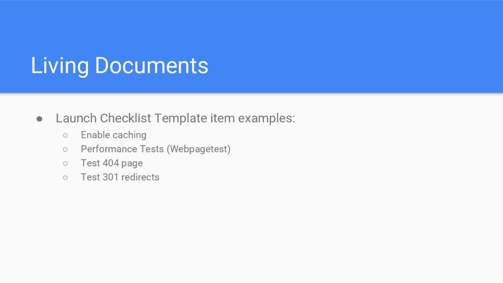 Living Documents ● Launch Checklist Template it...
