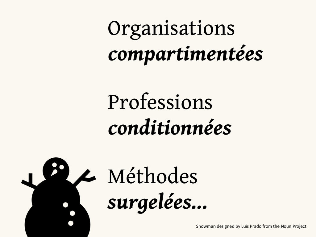 Organisations compartimentées Professions c...