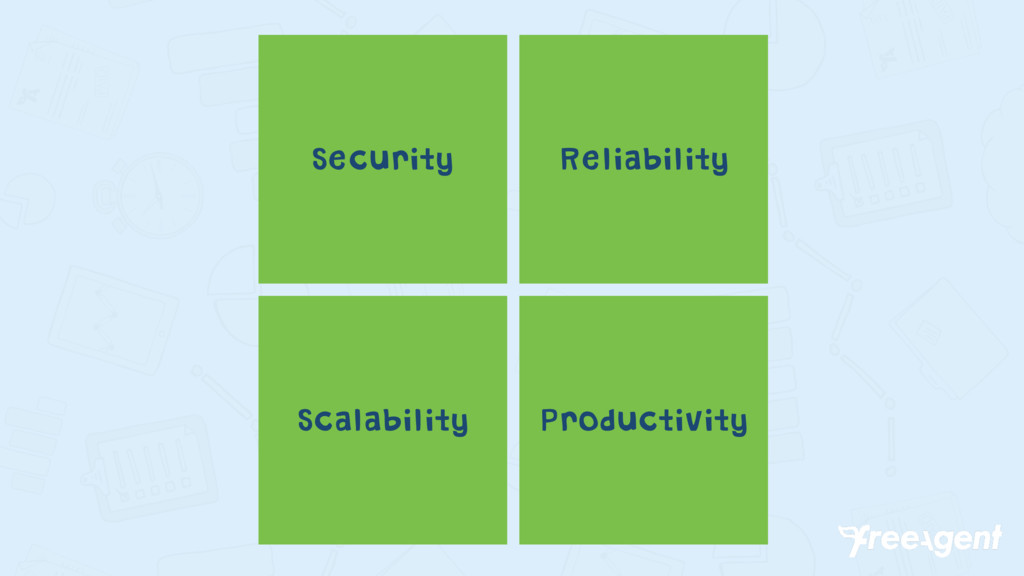 Security Reliability Scalability Productivity