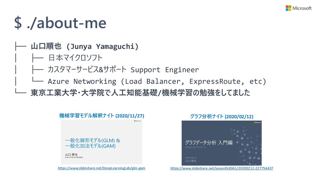 $ ./about-me ├── 山口順也 (Junya Yamaguchi) │ ├── 日...